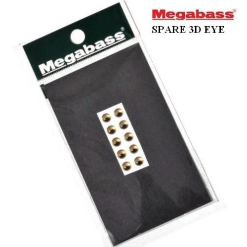 Глаза Megabass Spare 3D Eve 3.8mm