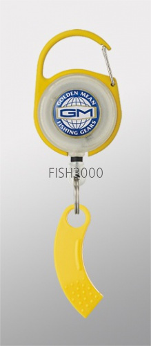 Golden Mean - GM PIN ON REEL X LINE CUTTER YELLOW
