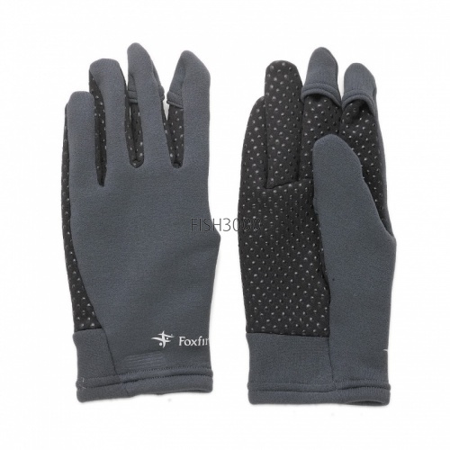 TIEMCO/Foxfire - Power Stretch Finger-through Glove Charcoal L
