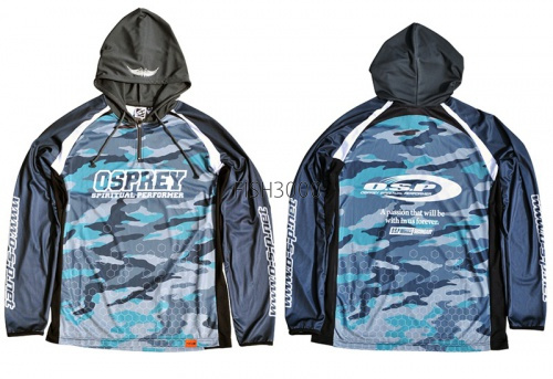 O.S.P. - Hooded Long Sleeve T-shirt Model 5 (NEW) #XL (color Camo)