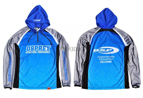 O.S.P. - Hooded Long Sleeve T-shirt Model 5 (NEW) #XL (color Blue)